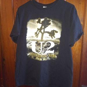 U2 CONCERT TOUR T-SHIRT 👕 2017 Rock Tee Shirt